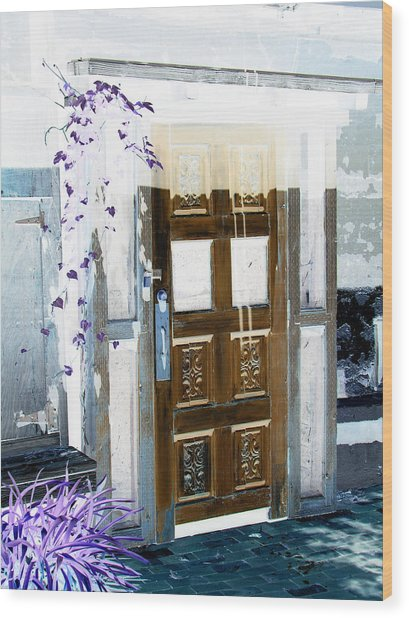 Harmony Doorway Wood Print