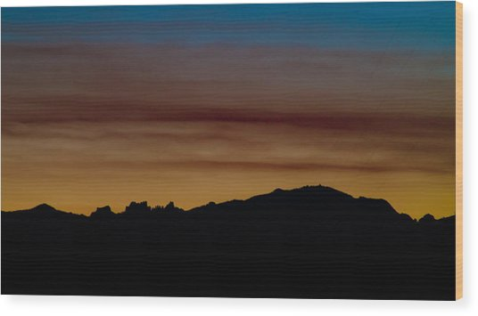 Harney Sunset Wood Print