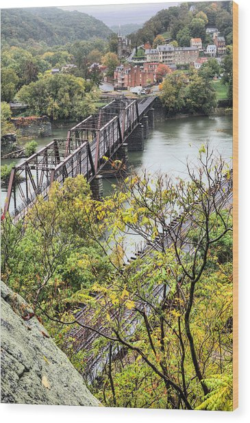 Harpers Ferry Wood Print by JC Findley