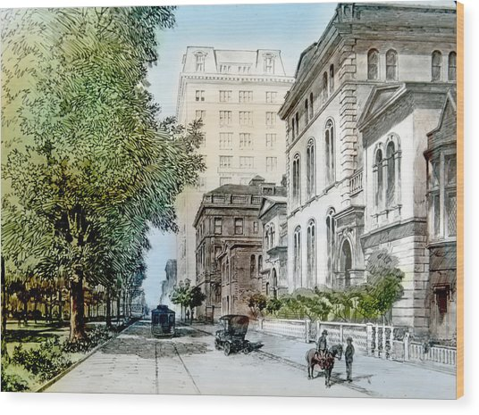 Harrison Residence East Rittenhouse Square Philadelphia C 1890 Wood Print