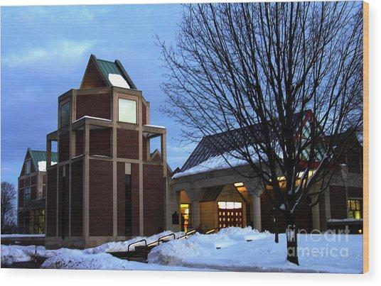 Harry C Trexler Library - Muhlenberg College Wood Print by Jacqueline M Lewis