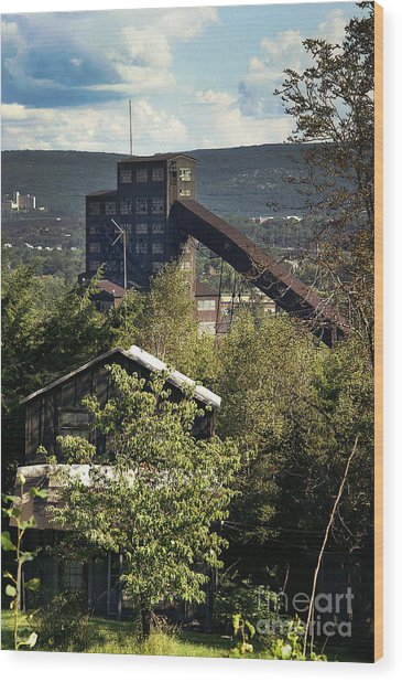 Harry E Colliery Swoyersville Pa Summer 1994 Wood Print