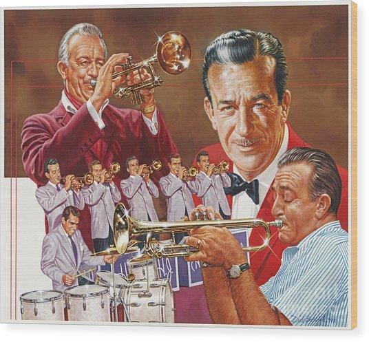 Harry James Trumpet Giant Wood Print