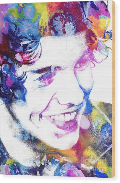 Harry Styles - One Direction Wood Print