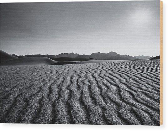 Desert Lines Wood Print