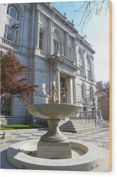 Hartford Historical Building Wood Print