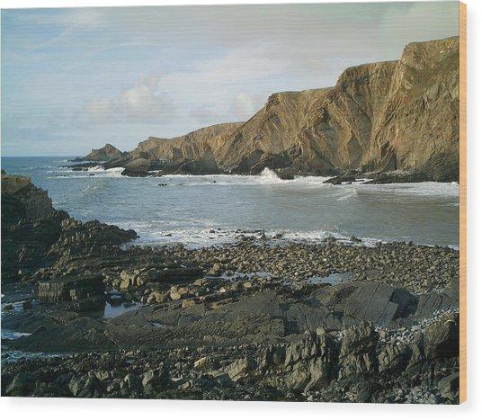 North Devon - Hartland Quay Wood Print