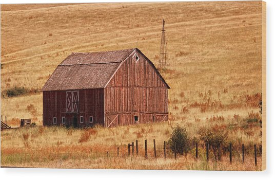 Harvest Barn Wood Print