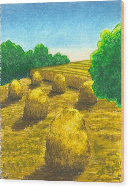 Harvest Gold Wood Print