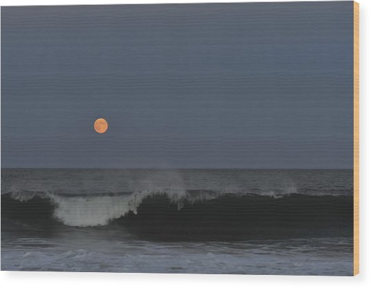 Harvest Moon Seaside Park Nj Wood Print