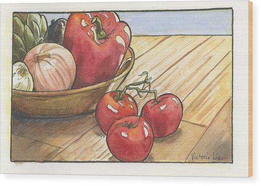 Harvest Table Wood Print