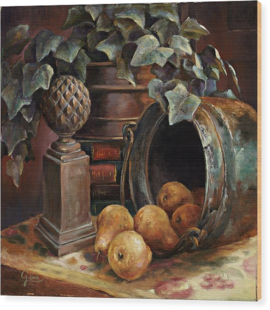 Harvest Time Wood Print by Gini Heywood