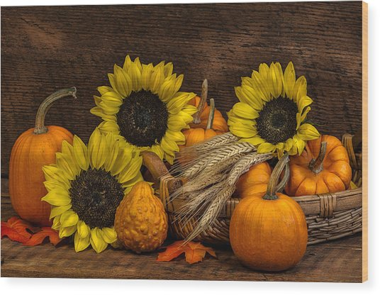 Harvest-time Wood Print