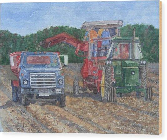Harvester Wood Print
