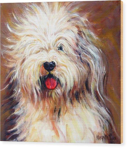 Harvey The Sheepdog Wood Print