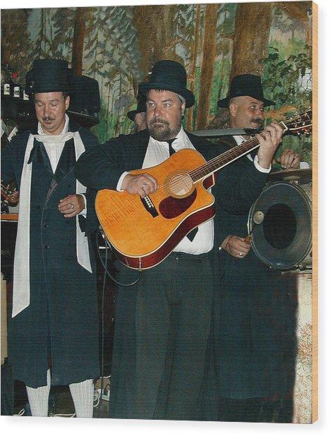 Hasidic Jews In Crakow Poland Wood Print by Bill Marder