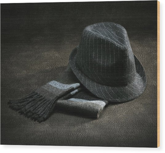 Hat And Scarf Wood Print