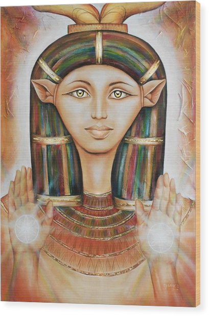 Hathor Rendition Wood Print