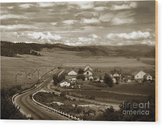 Hatton Ranch Carmel Valley From Highway One California  1940 Wood Print
