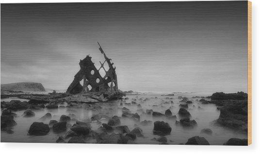 Haunted Beach Wood Print