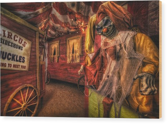 Haunted Circus Wood Print