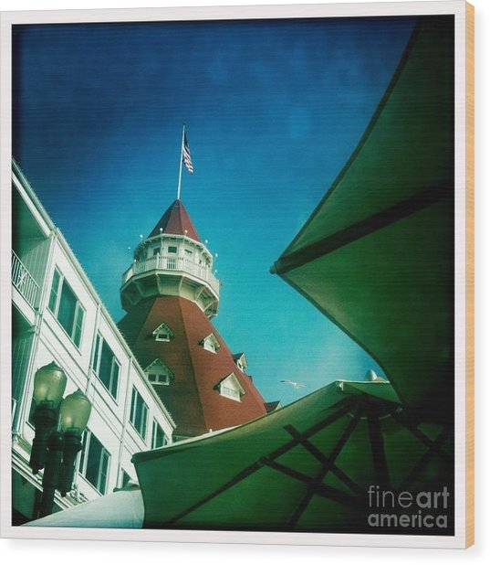 Haunted Hotel Del Wood Print