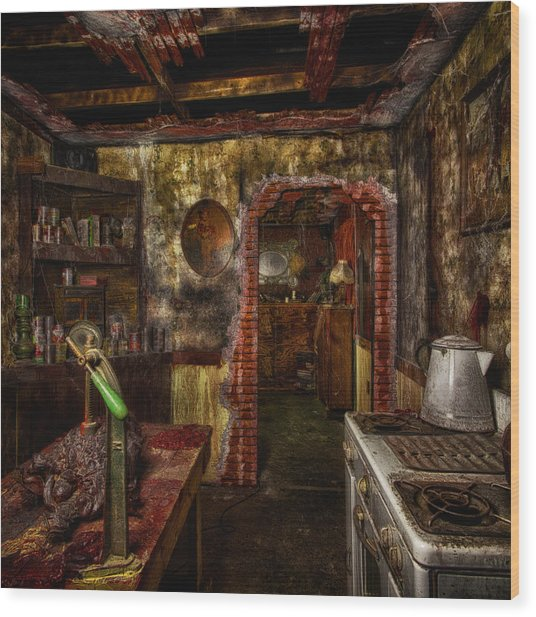 Haunted Kitchen Wood Print