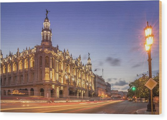 Havana, Cuba, The National Theater Wood Print by Buena Vista Images