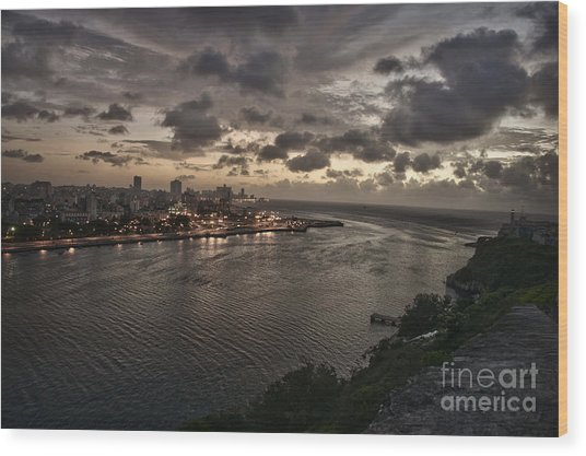 Havana Sunset Wood Print