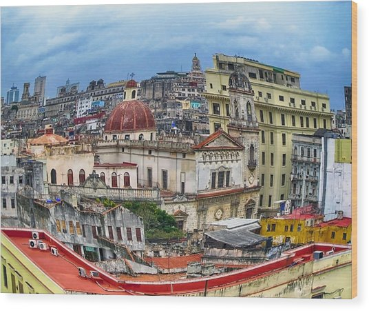 Havana Urban Expression Wood Print