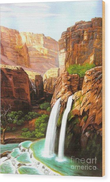 Havasu Falls Grand Canyon Wood Print