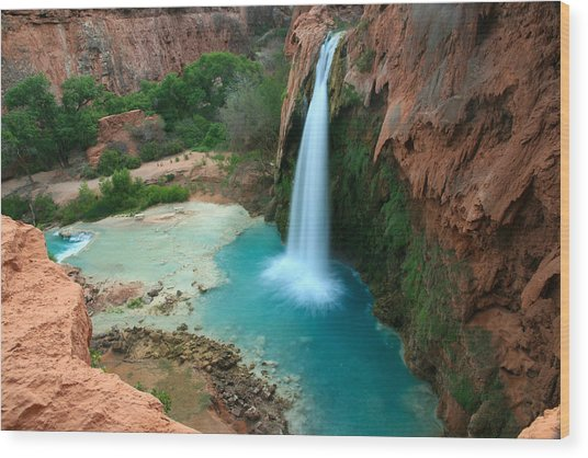 Havasu Falls Morning Wood Print