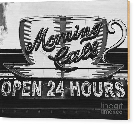 Have A Cup Of Coffee At Morning Call New Orleans Wood Print