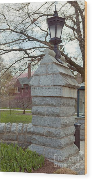 Haverford College Entrance Wood Print