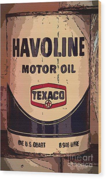 Havoline Motor Oil Can Wood Print