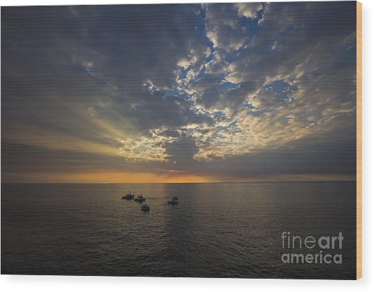 Hawaii Sunset Wood Print