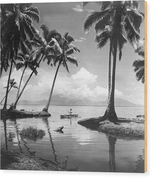 Hawaii Tropical Scene Wood Print
