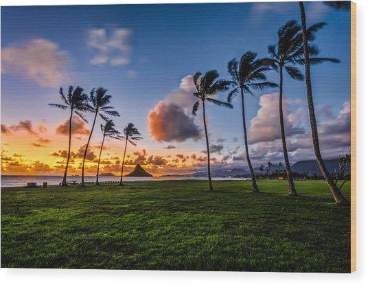 Chainaman Hat Hawaii Wood Print