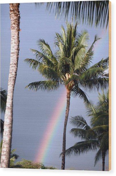 Hawaiian Rainbow Wood Print