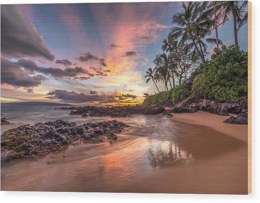 Hawaiian Sunset Wonder Wood Print
