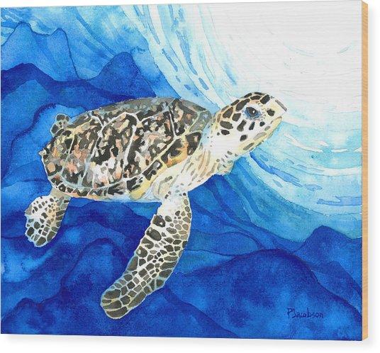 Hawksbill Sea Turtle 2 Wood Print