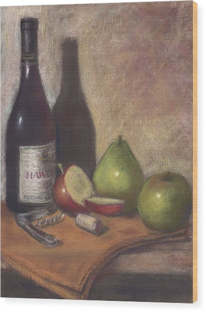 Hawley Wine Tasting Wood Print by Ellen Minter