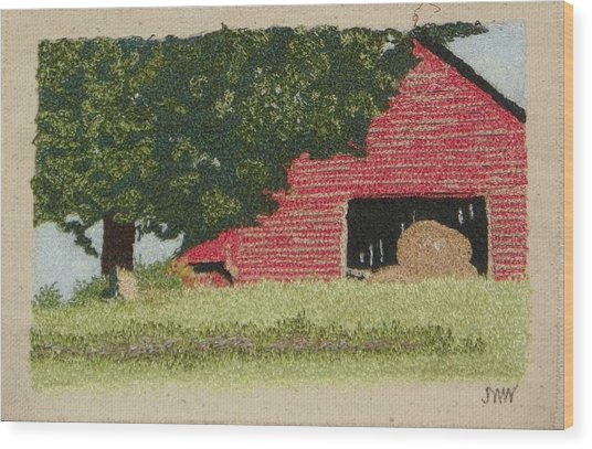 Hay Barn Wood Print