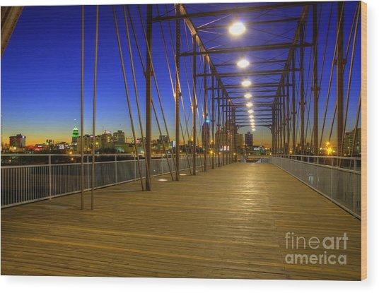 Hays Street Bridge Wood Print