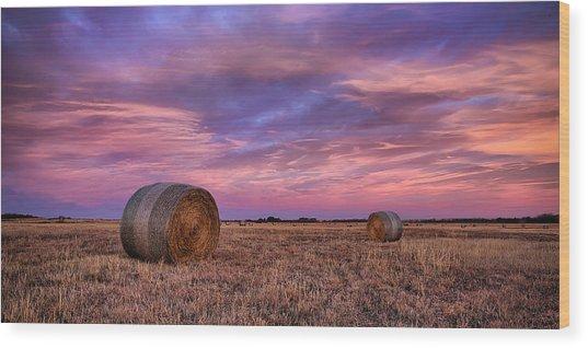 Hayseed Wood Print