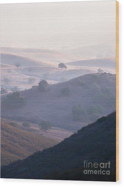 Hazy Pamo Valley Wood Print