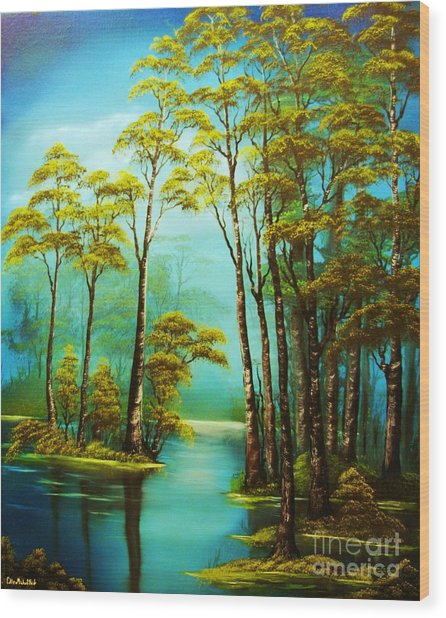 Hazy Reflections-original Sold- Buy Giclee Print Nr 34 Of Limited Edition Of 40 Prints  Wood Print