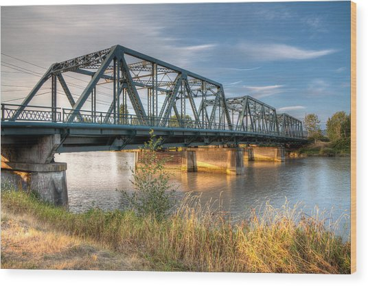 Hdr - Lincoln Ave. Bridge Wood Print