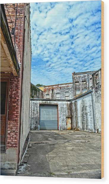 Hdr Alley Wood Print
