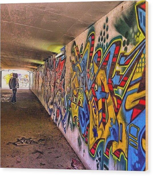 #hdr #colour #graffiti #steampunk #art Wood Print